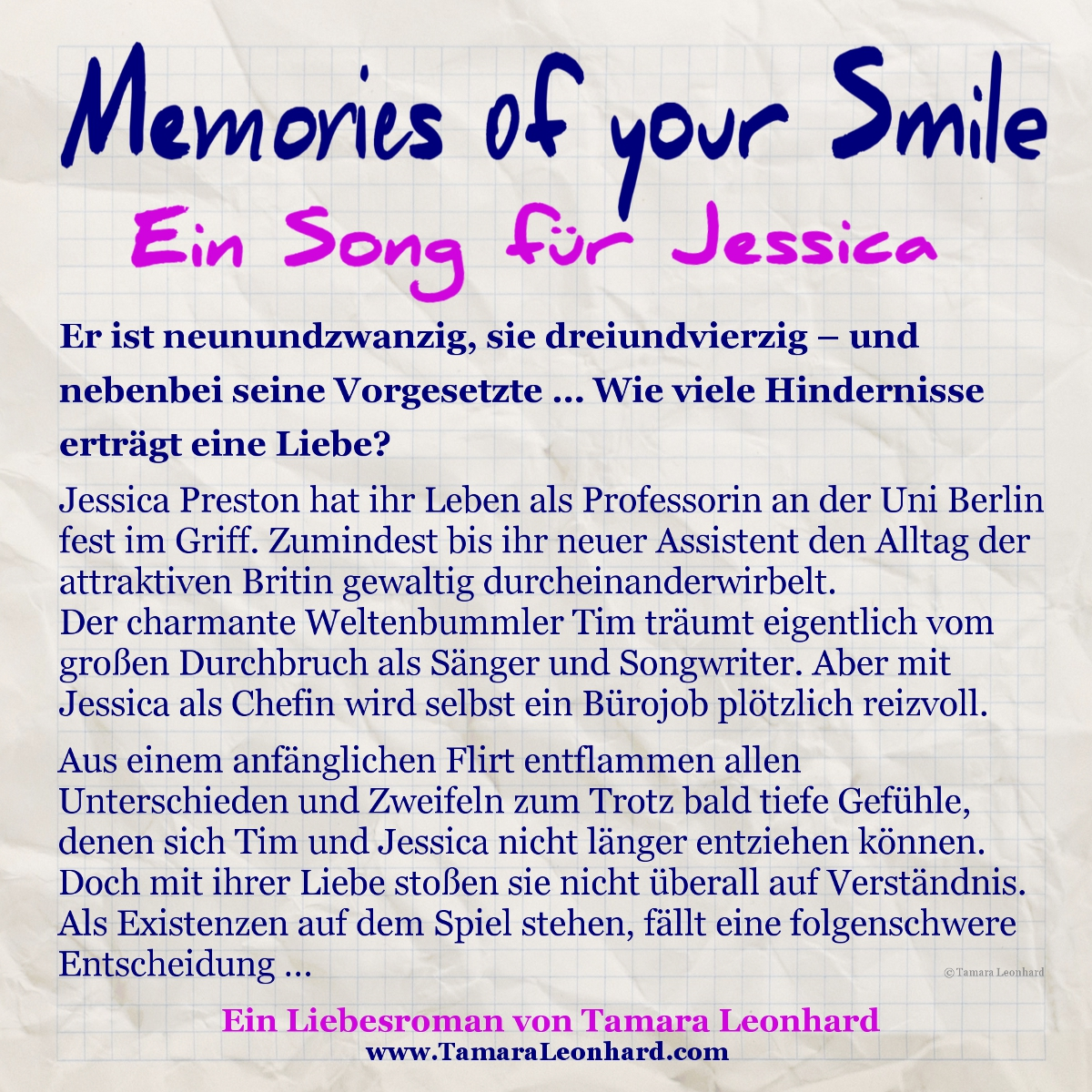 Memories of your Smile - Tamara Leonhard - Klappentext